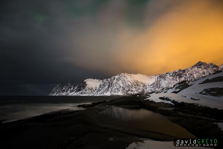 Nuit en bord de mer - Norvège